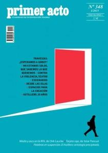 """Portada de la revista teatral """"Primer Acto"""" presentada en el Teattro de la Estación"""