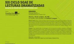 <i>20 de octubre</i> <br> <b>La Noche y las Estrellas</b><br>XIX Ciclo SGAE de lecturas dramatizadas